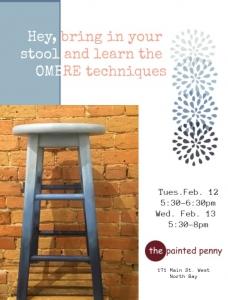 Excellent Tues Feb 12 13 Ombre Technique Stool Inzonedesignstudio Interior Chair Design Inzonedesignstudiocom